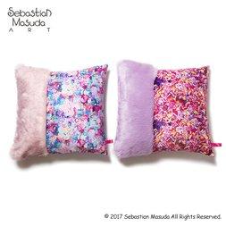 6%DOKIDOKI Fur x Colorful Rebellion Cushion Cover