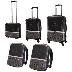 Tetris Art Suitcase & Rucksack Collection: Two-Tone (Black)