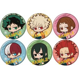 Yurutto Darun My Hero Academia Warm Hanten Character Badge Collection Box Set