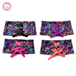 6%DOKIDOKI Neon Spectrum Lace-Up Belt