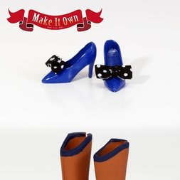 Shoes: High Heels (Blue) & Boots (Brown)