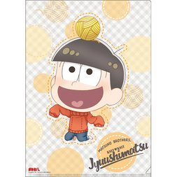 Osomatsu-san Knitting Wool Jyushimatsu Clear File