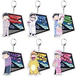 Osomatsu-san Pajamatsu Ver. Acrylic Keychain Charm Collection