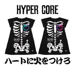 HYPER CORE Set Your Heart on Fire Dolman T-Shirt Dress