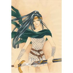 Riho Sachimi Gin no Valkyries Original Framed Reproduction Art Print No. 6