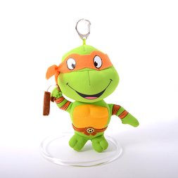 Teenage Mutant Ninja Turtles 5.5 Michelangelo Keychain Plush""