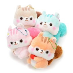 Fusappo Nuts Favorite Food Squirrel Plush Collection (Ball Chain)