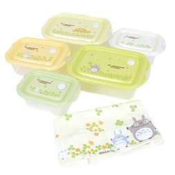 My Neighbor Totoro Totoro & Clovers 6-Piece Lunch Gift Set