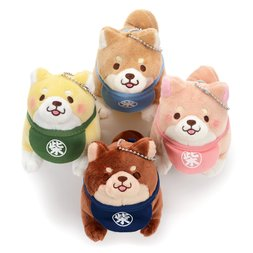 Chuken Mochi Shiba Standing & Barking Ball Chain Plush Collection