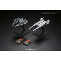 Rogue One: A Star Wars Story U-Wing Fighter & TIE Striker 1/144 Plastic Model Kit Set