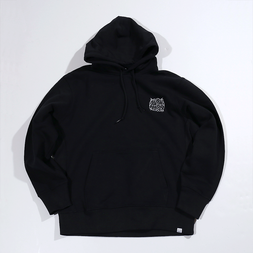 PARK Urahara Embroidered Black Hoodie