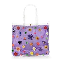FLAPPER Pressed Flower Clear Vinyl Tote Bag