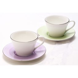 Pure Color Mino Ware Cup & Saucer Set
