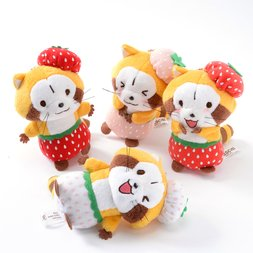 Rascal the Raccoon Strawberry Plush Collection (Ball Chain)