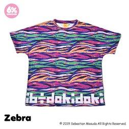 6%DOKIDOKI Colorful Rebellion Animal Zebra T-Shirt