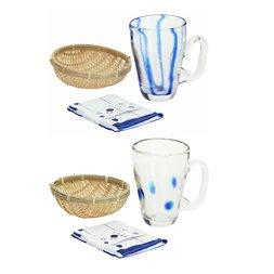 Gold Leaf Beer Glass & Edamame Set