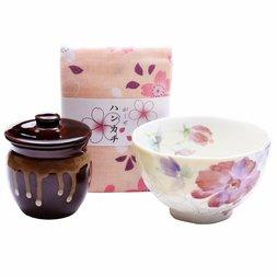 Hana Tsumi Mino Ware Chazuke Bowl Set