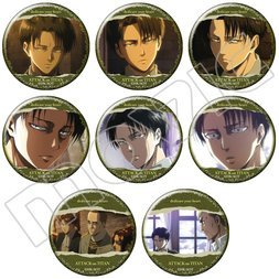 Attack on Titan Levi Character Badge Box Set