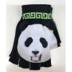 ACDC RAG Black & Green Panda Fingerless Gloves