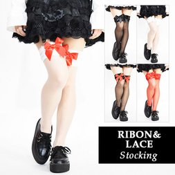 ACDC RAG Ribbon & Lace Stockings