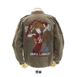 Rebuild of Evangelion Asuka Langley Shikinami Embroidered Olive Tour Jacket
