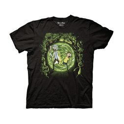 Rick and Morty Portal & Monsters Adult T-Shirt