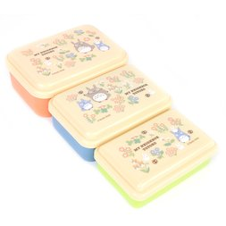 My Neighbor Totoro Nested Totoro & Flowers Plastic Container 3-Piece Set