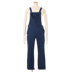 LIZ LISA Front String Denim Overalls