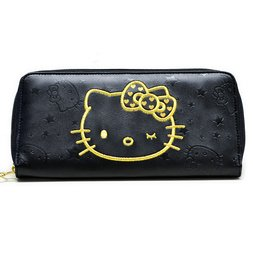 Hello Kitty Wink Gold Long Wallet