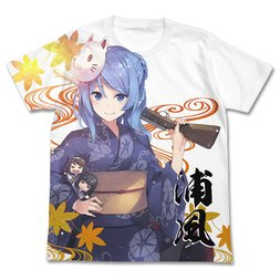 Kantai Collection -KanColle- Urakaze Yukata Ver. White Graphic T-Shirt