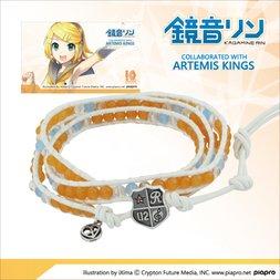 Kagamine Rin Leather Wrap Bracelet