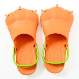 Akiba Sandals - Orange x Yellow-Green