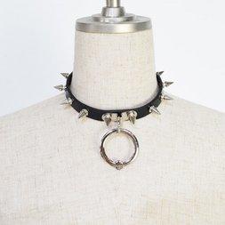 ACDC RAG Black Ball Ring Needle Choker