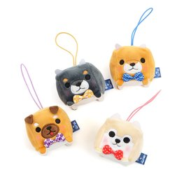 Mameshiba San Kyodai Mochikko Cube Dog Plush Collection (Mini Strap)