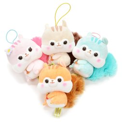 Fusappo Nuts Favorite Food Squirrel Plush Collection (Mini Strap)