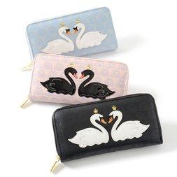 FLAPPER Swan Appliqué Long Wallet