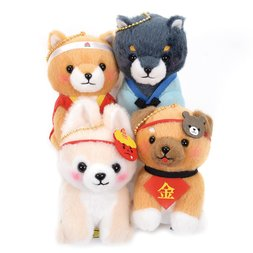 Mameshiba San Kyodai Folktale Dog Plush Collection (Ball Chain)