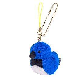 Irotoridori Blue-and-White Flycatcher Keychain Strap