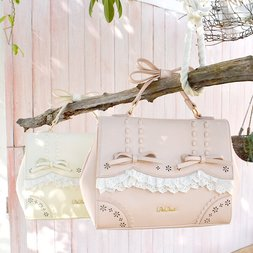 LIZ LISA Frilly Lace 3-Way Bag