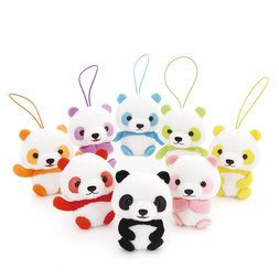 Puchimaru Colorful Baby Panda Plush Collection