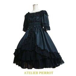 Atelier Pierrot Shantung Off-Shoulder Dress