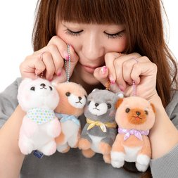 Mameshiba San Kyodai Funwari Yume no Kuni Dog Plush Collection (Ball Chain)