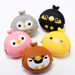 Kotori Tai Happy Bird Silicone Coin Pouches