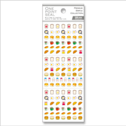 One Point Seal Breakfast Stickers
