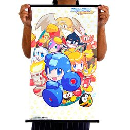 Mega Man Powered Up Classic Group Wall Scroll Poster