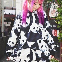 ACDC RAG Panda Hoodie Dress