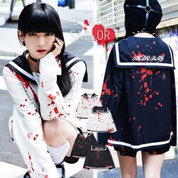 ACDC RAG Bloody Long Sleeve Sailor Top