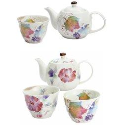Hana Tsumi Mino Ware Teapot Sets