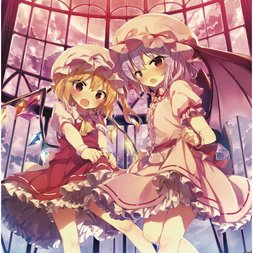 Touhou Project Remilia & Flandre B2 Square Tapestry