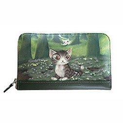 Wachifield Dayan the Cat Mori no Sasaki Zip-Around Wallet